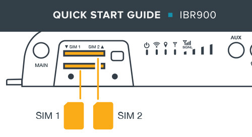 IBR900 Mobile Router Quick Start Guide