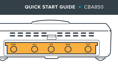 CBA850 Branch LTE Adapter Quick Start Guide
