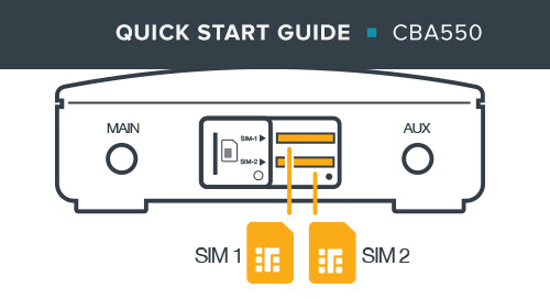 CBA550 LTE Adapter Quick Start Guide