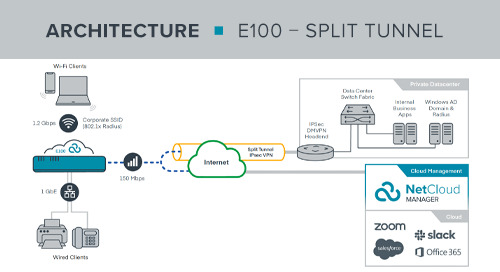 E100 Work from Anywhere Split Tunnel Reference Architecture