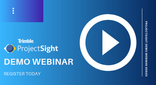 ProjectSight Live Demo - Get an Overview of the Contractor PM Solution