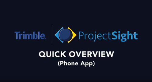 ProjectSight Mobile - Overview Training