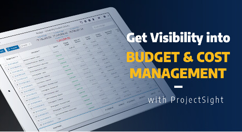 Get Visibility into Project Budget and Cost with ProjectSight