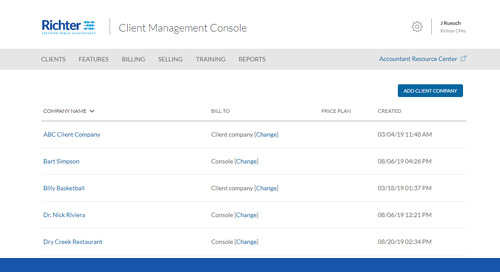 Settting up Bill.com Client Management Console