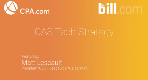 Matt Lescault - CAS Tech Strategy