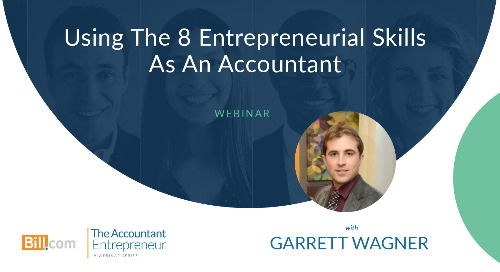 Webinar: Using The 8 Entrepreneurial Skills as an Accountant