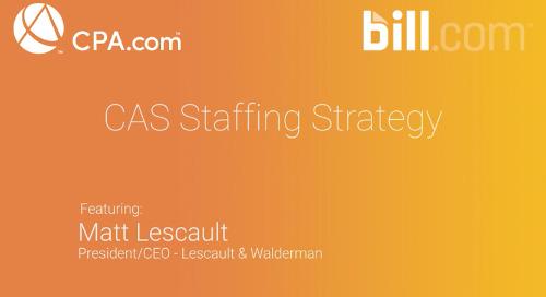 Matt Lescault - CAS Staffing Strategy