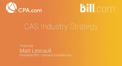Matt Lescault - CAS Industry Strategy