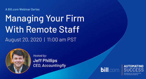 August 20 | 11am PST: Managing Your Firm with Remote Staff