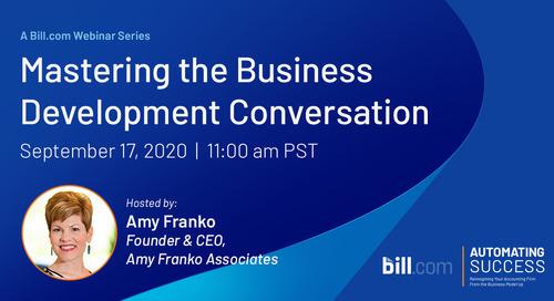September 17 | 11am PST: Mastering the Business Development Conversation
