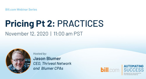 Coming Soon* November 12   11am PST- Pricing Pt 2: Practices