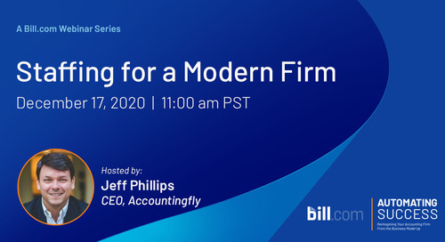 Coming Soon* December 17 | 11am PST: Staffing for a Modern Firm