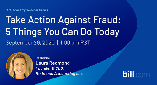 September 29 | 11am PST: Take Action Against Fraud - 5 Things You Can Do Today