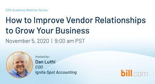 November 5 | 9am PST: How to Improve Vendor Relationships to Grow Your Business