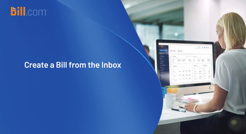 Create a Bill from the Inbox