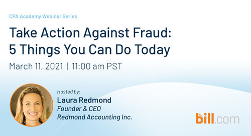 March 11 | 11:00 am PST: Take Action Against Fraud - 5 Things You Can Do Today