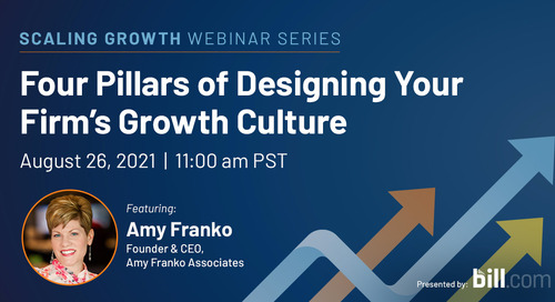 August 26 | 11:00 am PST: Four Pillars of Designing Your Firm's Growth Culture