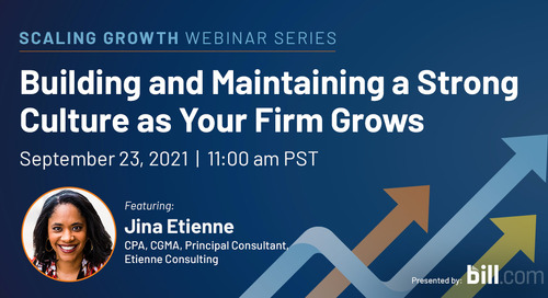 September 23 | 11:00 am PST: Building and Maintaining a Strong Culture as Your Firm Grows