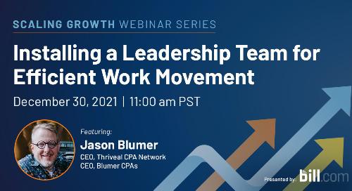 December 30 | 11:00 am PST: Installing a Leadership Team for Efficient Work Movement