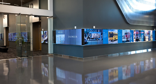 Digital Signage Drives the Employee and Visitor Experience at Daimler Trucks North America's Headquarters