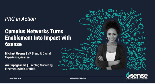 PRHow Cumulus Networks Turns Enablement into Impact with 6sense