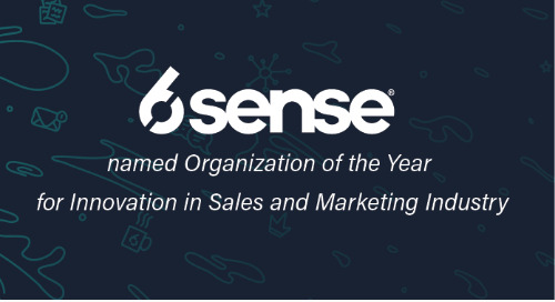 6sense Named Organization of the Year for Innovation in Sales and Marketing Industry