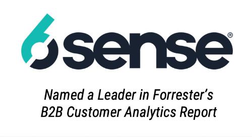 6sense Named A Leader in Forrester's B2B Customer Analytics Report