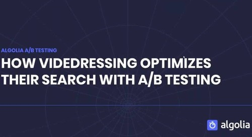 How Videdressing optimizes their search with A/B testing