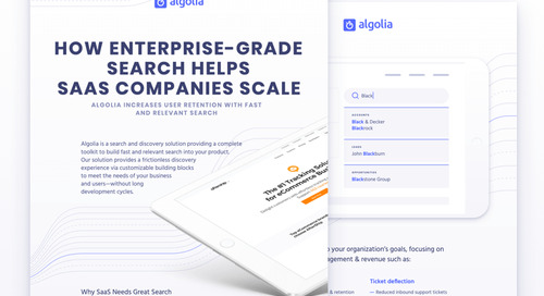 How to use Algolia for your SaaS