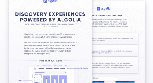 Overview: how to use Algolia