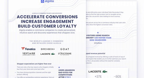 Algolia for ecommerce