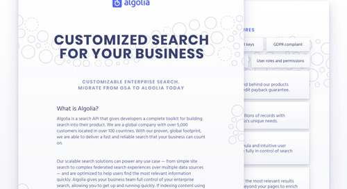 Customized search for business: migrating from GSA to Algolia