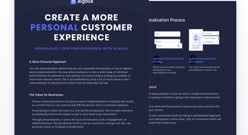 How to use Algolia personalization for e-commerce