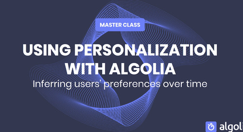 Master class: using Personalization with Algolia