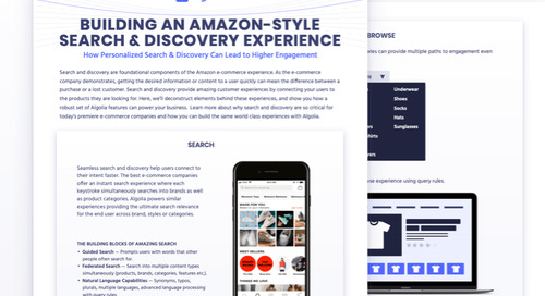 Building an Amazon-style search & discovery experience