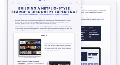 Building a Netflix-style Search & Discovery Experience
