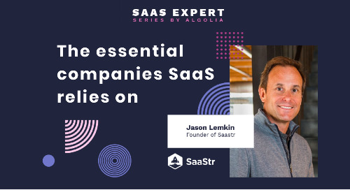 """The essential companies SaaS relies on"" ft. Jason Lemkin, CEO & Founder of SaaStr"