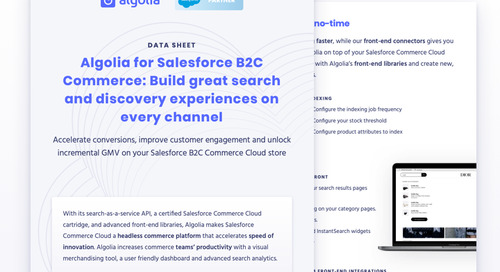 Algolia for Salesforce B2C Commerce