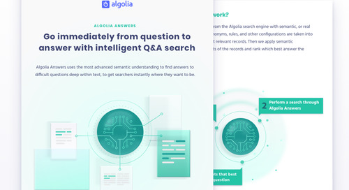 Algolia Answers: go immediately from question to answer with intelligent Q&A search