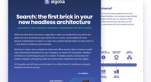 Search: the first brick in your new headless architecture