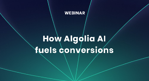 How Algolia AI fuels conversions