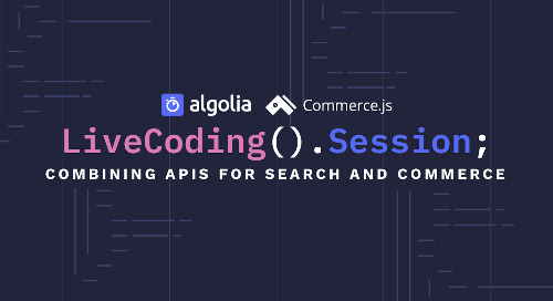 Live Coding Session - Integrate search into your Commerce.js store in 30 min