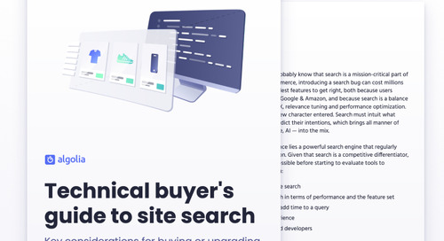 Technical buyer's guide to site search