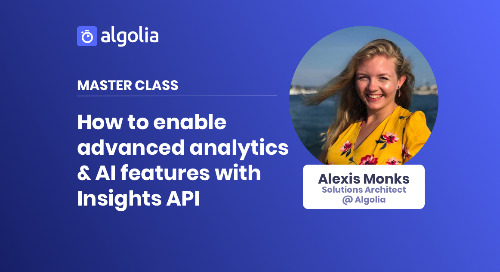 Master Class: Enable advanced analytics & AI features with Insights API