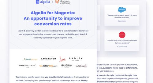 Algolia for Magento: an opportunity to improve conversion rates