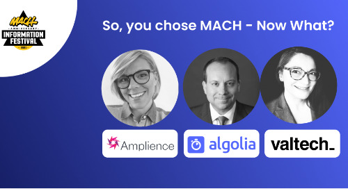 So you chose MACH - Now what?