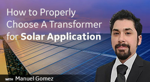 How to Properly Choose A Transformer for Solar Application