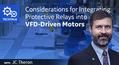 Integration of Protective Relays into a VFD Driven Motor