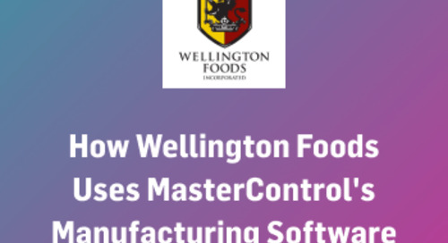 How Wellington Foods Uses MasterControl's Manufacturing Software Systems