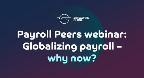 Globalizing payroll – why now?